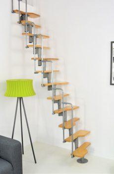 Twister ruimtebesparende trap grijs
